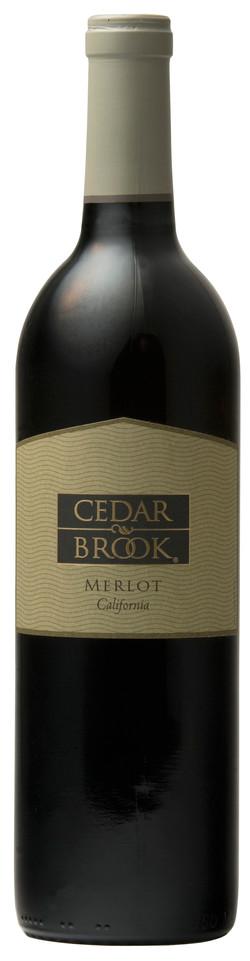 Cedar Brook Merlot bottle