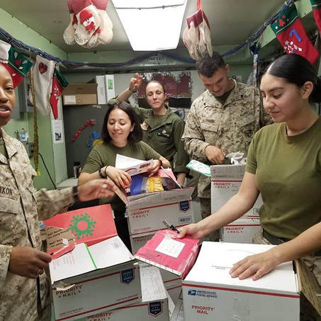 Some happy Marines right here!!! Boxes m