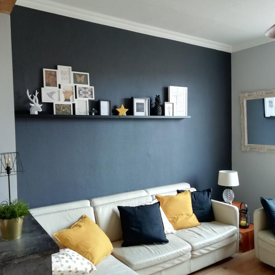 Mise en peinture d'un salon / Après