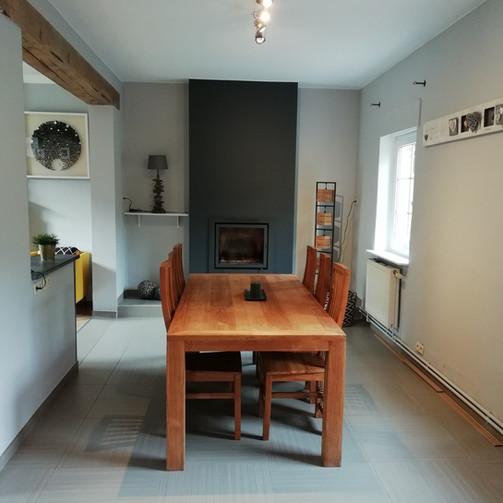Mise en peinture d'une salle à manger / Après