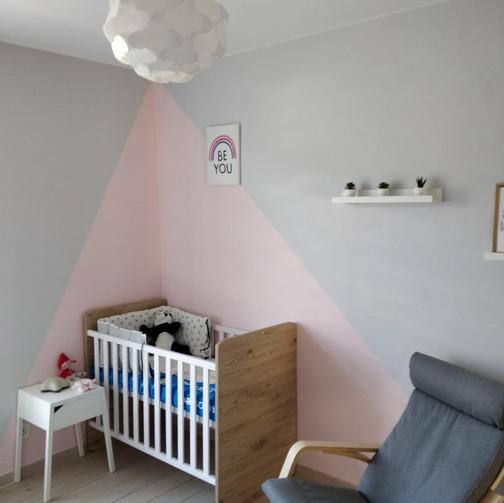 Mise en peinture d'une chambre / Après