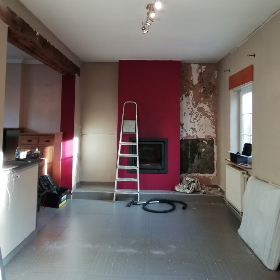 Mise en peinture d'une salle à manger / Avant
