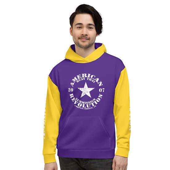Unisex Purple/Gold 'Mix Up' American Revolution Hoodie