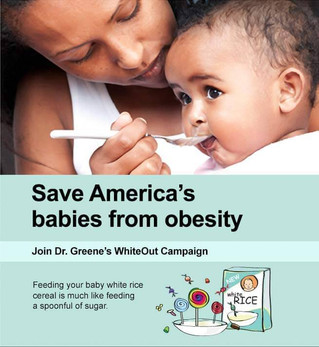 The White Out campaign; weaning baby
