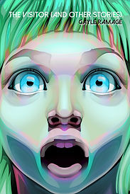 Close-up illustration of a young girl's shocked face.