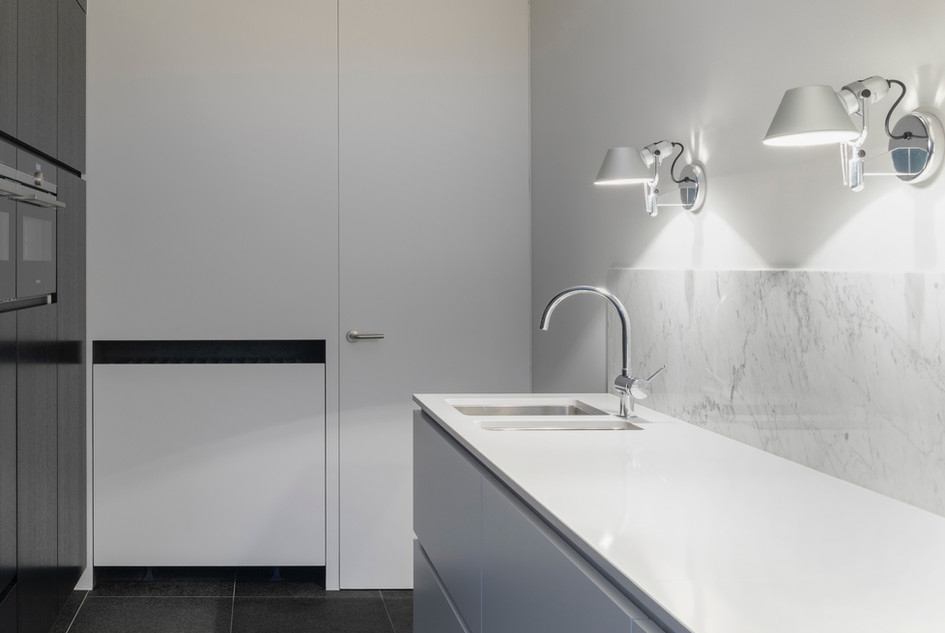Modern White Kitchen Renovation - Peak Electrical - Electricians in Canberra Local Area - Licensed Electrician