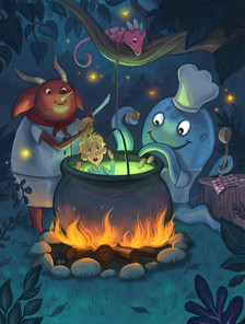 Monsters cooking a stew...