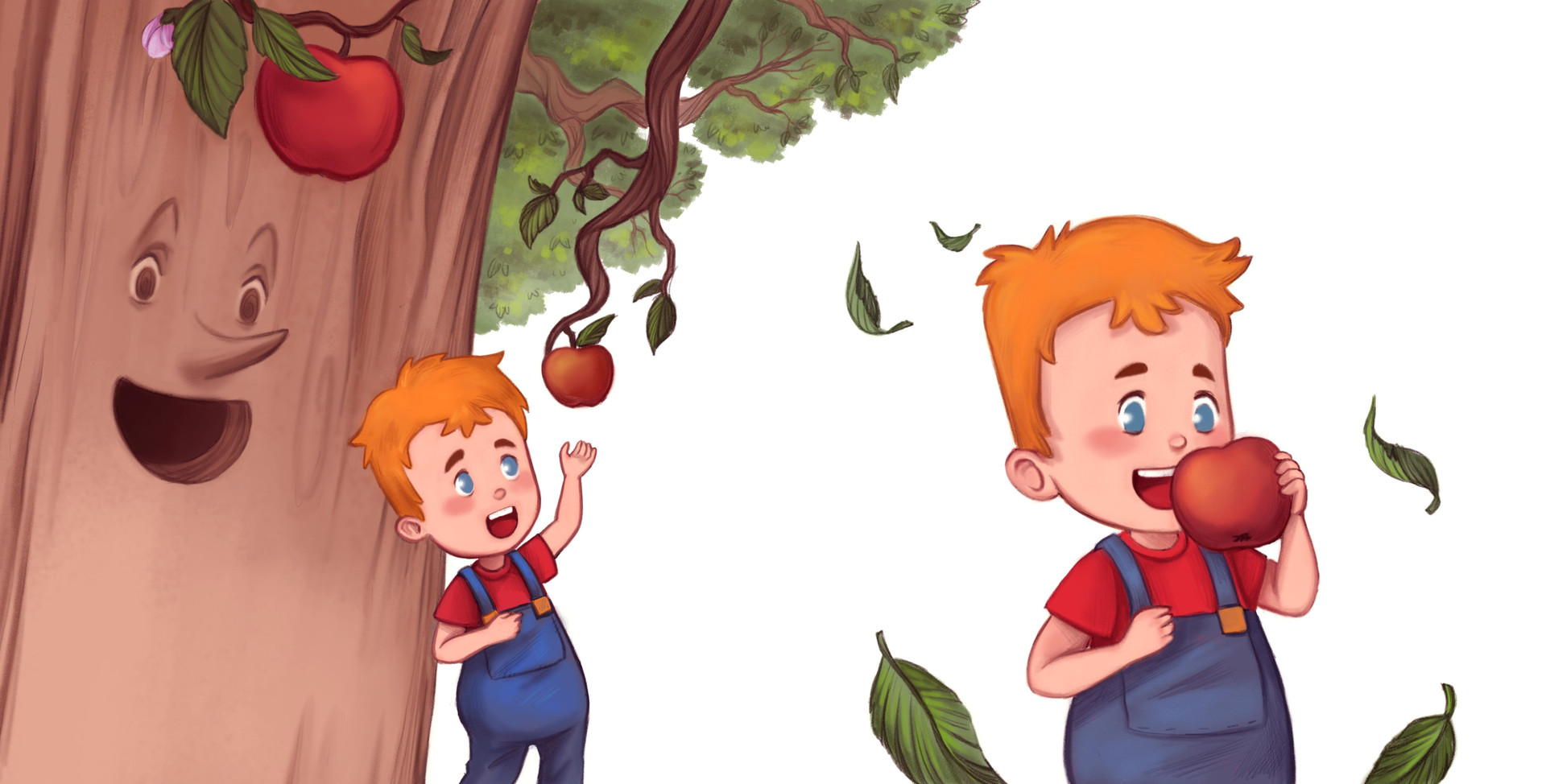 Tim and the Magical Apple Tree