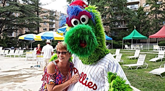 Patti Braun Campbell Photo with Phillies