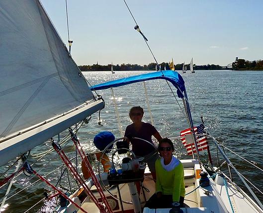 Barbara Jackowicz - Sailing with Friend.