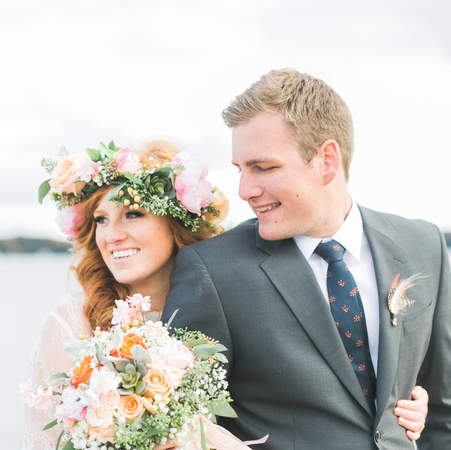 Flower crown bracebridge wedding