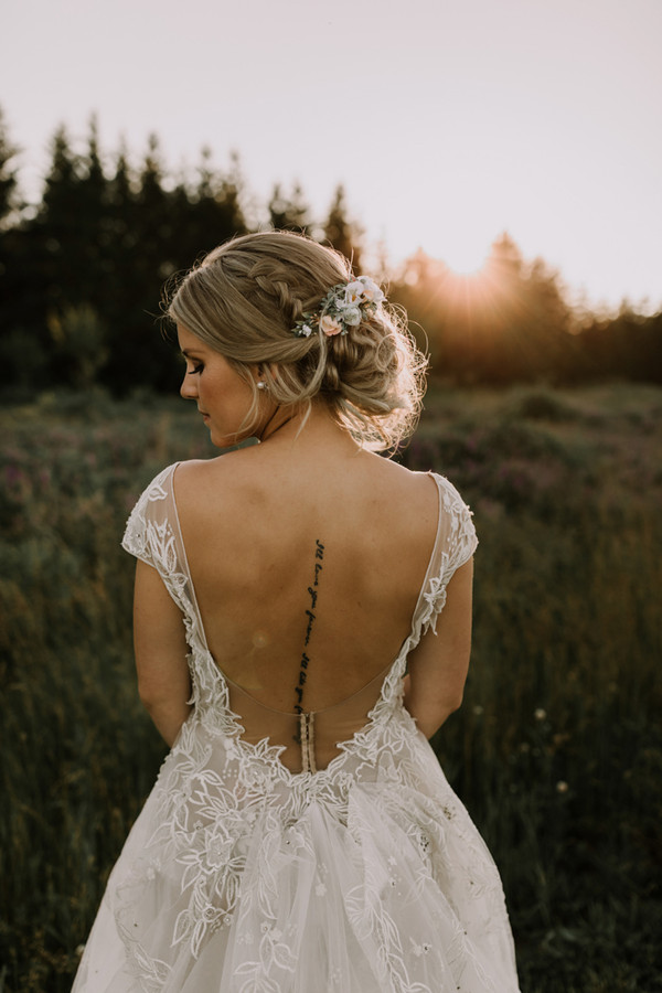 outdoor wedding bridal hair and makeup