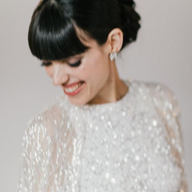 sleek bridal hairstyle