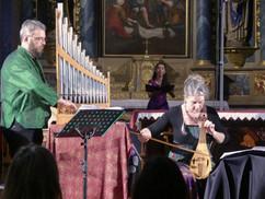 Christophe Deslignes, Eva Fogelgesang and Esther Labourdette concert de Peillac