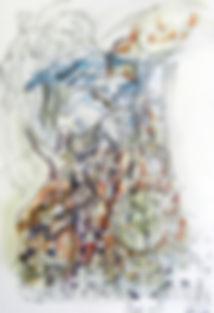 La Balsa de Piedra mixta cartulina 70x 5