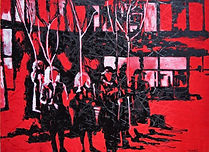 Soldier of my time. 175x200 cm. Enamel o