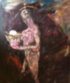 Incubadora. 185x155 cm. Oil on canvas. 2