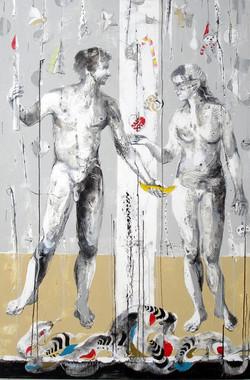 Time to AD-Adam&Ewa_150x100cm_Janusz Tyr