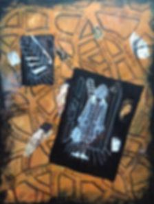 Memoires de Lyon.Acrylic on canvas and c