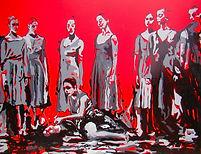 The Revolution. 115x150 cm. Enamel on vi