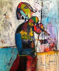 The Violinist. 50x60 cm.