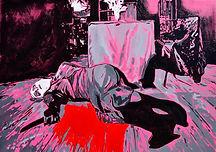 The death of a dreamer. 100x145 cm. Enam