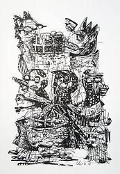 Uden titel, A4, blæk på papir, 2019, 900