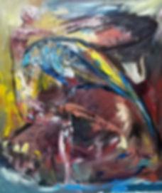 Agujero negro. 130x110 cm. Oil on canvas