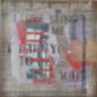 Kamilla Lynggaard. No titel. Collage. 30x30 cm.