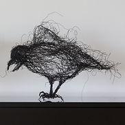 Ébène II. Wire sculpture. 2020. 33 x 56