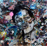 Colored Boy_paint and resin on canvas_30