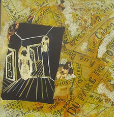 Got lost in Paris.Collage and Acrylic on