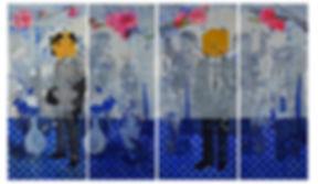 Spring melody # 2. Size 152 cm x 252 cm.