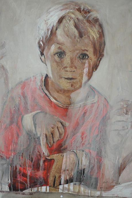 Painted portrait. Portræt.