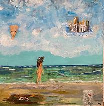Anette_går_ved_havet._Erindringens_gavm