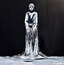 Illusion. 120x120 cm. Enamel on canvas.