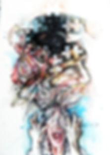 La Danza de Oya 70x 50cm mixta cartulina