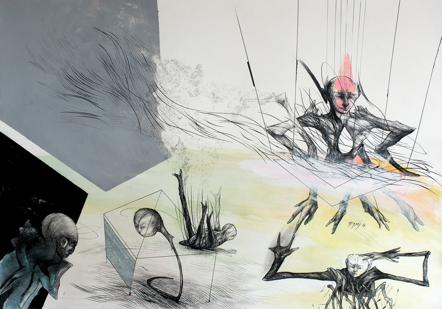 Adaptation II. 100x70 cm. 2017