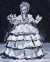 The Cuban. 20x30 cm. Enamel on  canvas.