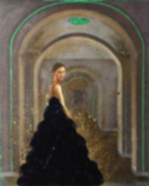 June Jin Engelhardt. Painter. Oil on canvas.