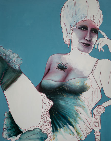 Ann-Lisbeth Sanvig. 'The Renaissance of Venus'. Olie på lærred. 80x100 cm.