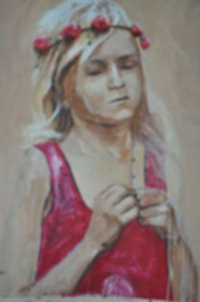 Alfredo Mendoza. Portrait. Acryl on canvas.  80x100 cm. Order your own portraits.