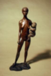 Lauge Voigt. Skulptur bronze