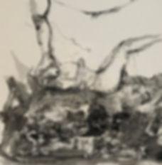 Terreno De Las Delicias. Ink on canvas.