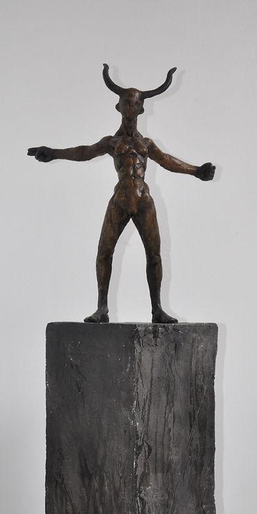 Lauge Voigt. Skulpturbronze.