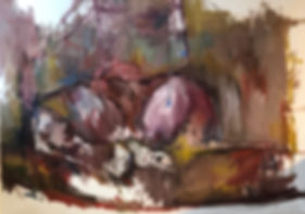 Amamanta. 160x120 cm. Oil on canvas. 201
