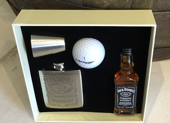 Jack Daniels Hip flask Gift Set