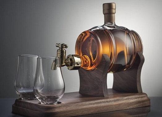 Barrel Tap and 2 Glasses