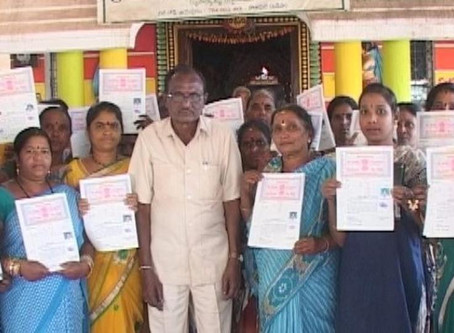 Achary has donated over 2.3 acres of his own land to 250 landless people in Jeypore
