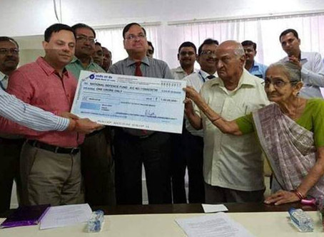 This 84-yr-old retired bank employee donated Rs 1 crore from his life's saving to help Armed Forces